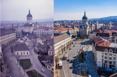 """""""Atunci si Acum"""" la Cluj. 10 fotografii realizate in acelasi loc la zeci sau sute de ani distanta"""