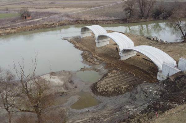 Se construieste un nou pod peste somes in judetul Cluj! FOTO